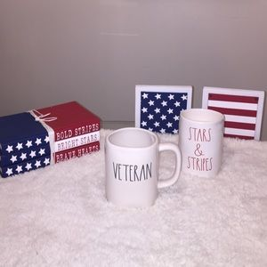 Rae Dunn STARS & STRIPES Candle VETERAN Mug 🇺🇸